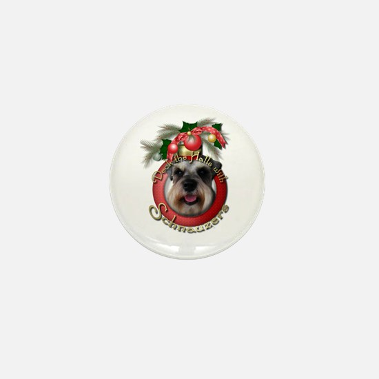 Christmas - Deck the Halls - Schnauzers Mini Butto