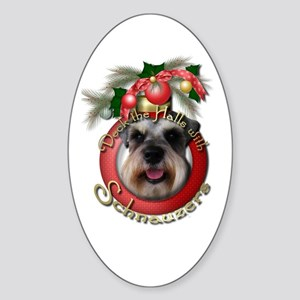 Christmas - Deck the Halls - Schnauzers Sticker (O