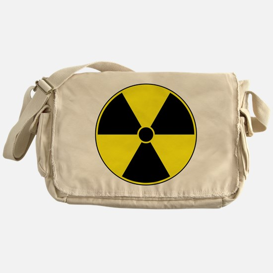 Yellow Radiation Symbol Messenger Bag