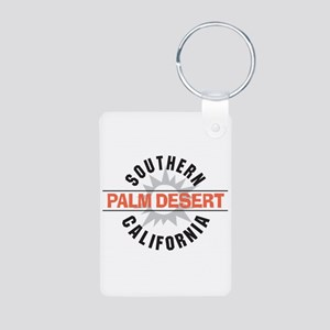 Palm Desert California Aluminum Photo Keychain