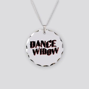 Dance Widow Necklace Circle Charm
