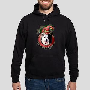 Christmas - Deck the Halls - Border Collies Hoodie
