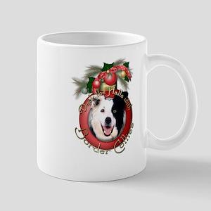Christmas - Deck the Halls - Border Collies Mug