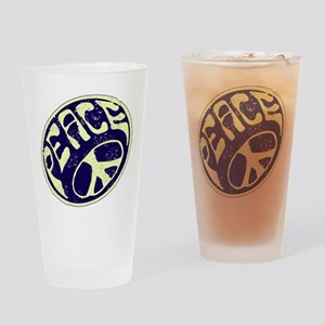 Vintage Peace Symbol #V9 Drinking Glass