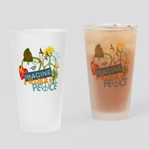 Rainbow Peace Abtract Art Drinking Glass