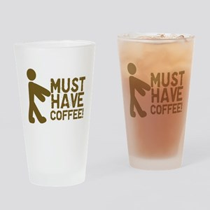 Must Have COFFEE! Zombie Drinking Glass