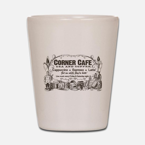 Vintage Coffee Retro Cafe Shot Glass