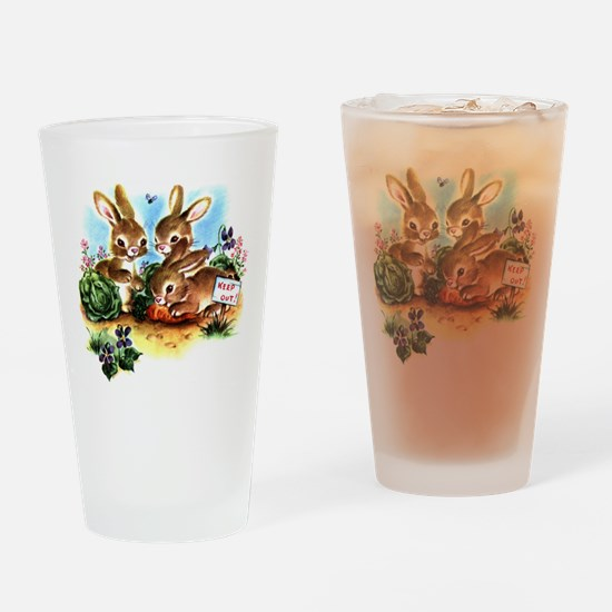 BUNNY PATCH Drinking Glass