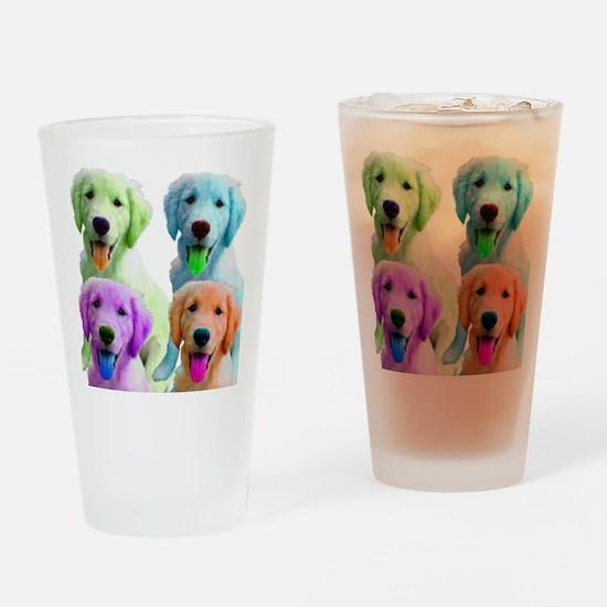 Golden Retriever Warhol Drinking Glass