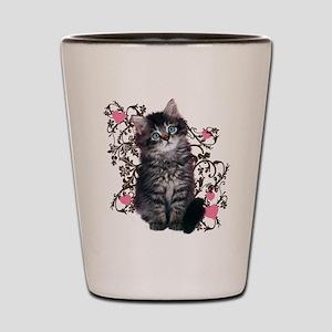 Kitten Cat Abstract Art Shot Glass