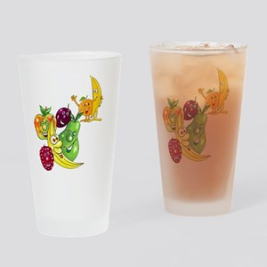 Healthy Happy Fruit Drinking Glass