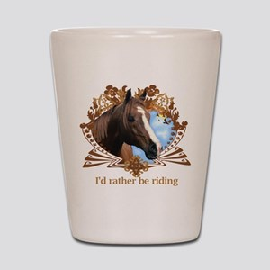 I'd Rather Be Riding Shot Glass