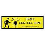 Space Control Zone Bumper Sticker