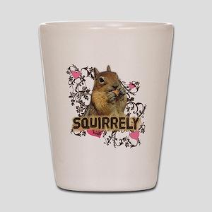 Squirrely Squirrel Lover Shot Glass