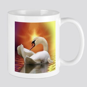 Mystical Swan in Golden Light Mugs