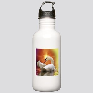 Mystical Swan in Golde Stainless Water Bottle 1.0L