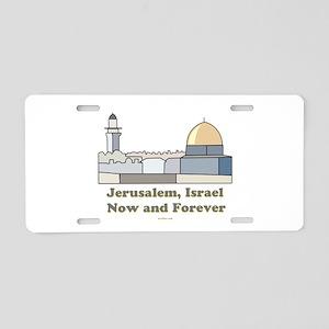 Jerusalem Israel Forever Aluminum License Plate