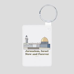 Jerusalem Israel Forever Aluminum Photo Keychain