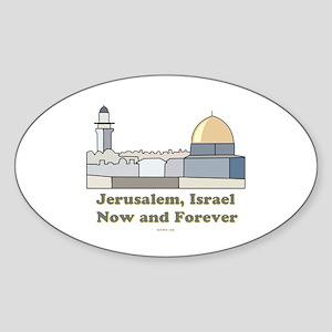 Jerusalem Israel Forever Sticker (Oval)