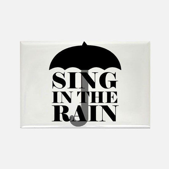 'Sing in the Rain' Rectangle Magnet