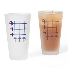 Fencing Sword Grid Drinking Glass