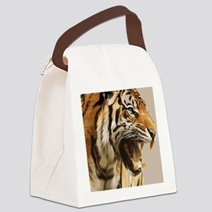 Magnificent Tiger Canvas Lunch Bag