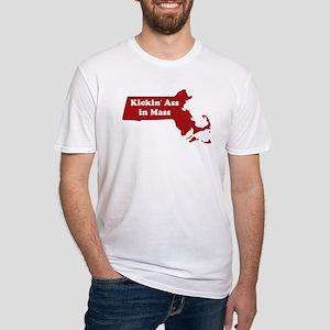 Kickin' Ass in Mass Fitted T-Shirt