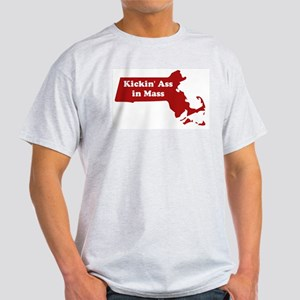 Kickin' Ass in Mass Ash Grey T-Shirt