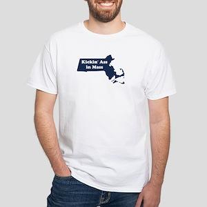 Kickin' Ass in Mass White T-Shirt