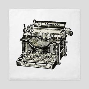 Vintage Monarch Typewriter Queen Duvet