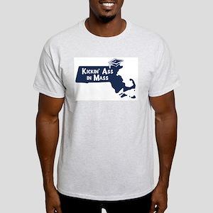 Kickin Ass in Mass (graduate) Ash Grey T-Shirt