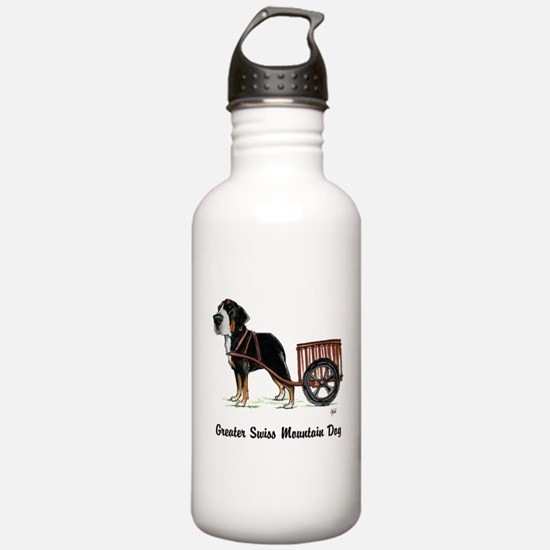 Unique Swiss mountain dog Water Bottle