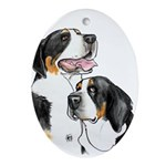Greater Swiss Mountain Dog Ornament (Oval)