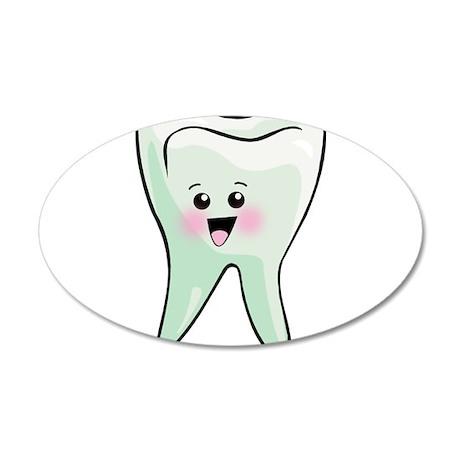 Happy Tooth 22x14 Oval Wall Peel