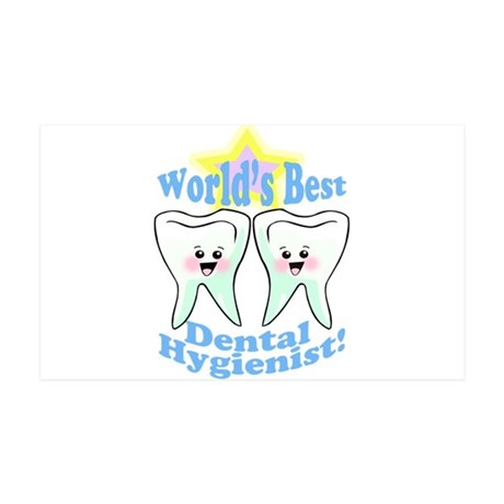 Worlds Best Dental Hygienist 38.5 x 24.5 Wall Peel
