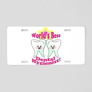 Worlds Best Dental Hygienist Aluminum License Plat