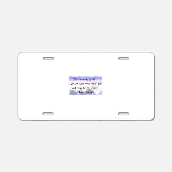 Bowels Empty Aluminum License Plate