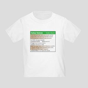 """""""Furious Tantrum"""" Power Card Toddler T-Shirt"""