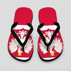 Flag of Poland White Eagle Flip Flops