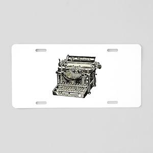 Vintage Monarch Typewriter Aluminum License Plate