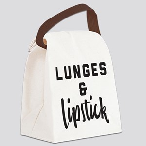 Lunge and Lipstick Canvas Lunch Bag