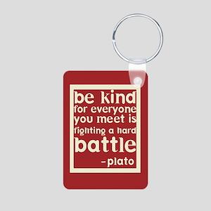 Be Kind by Plato Aluminum Photo Keychain