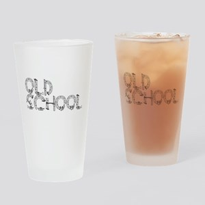 Old School Music Drinking Glass