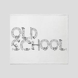 Old School Music Throw Blanket