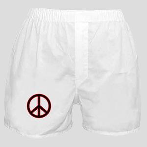 Red&Black Peace Symbol Boxer Shorts