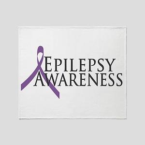 Epilepsy Awareness Ribbon Throw Blanket