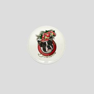 Christmas - Deck the Halls - Bostons Mini Button