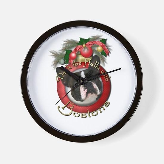 Christmas - Deck the Halls - Bostons Wall Clock