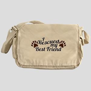 Rescued Dog Best Friend Messenger Bag