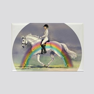 Rainbow Riding Rectangle Magnet